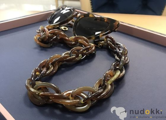 řetěz na brýle  Chain Brown